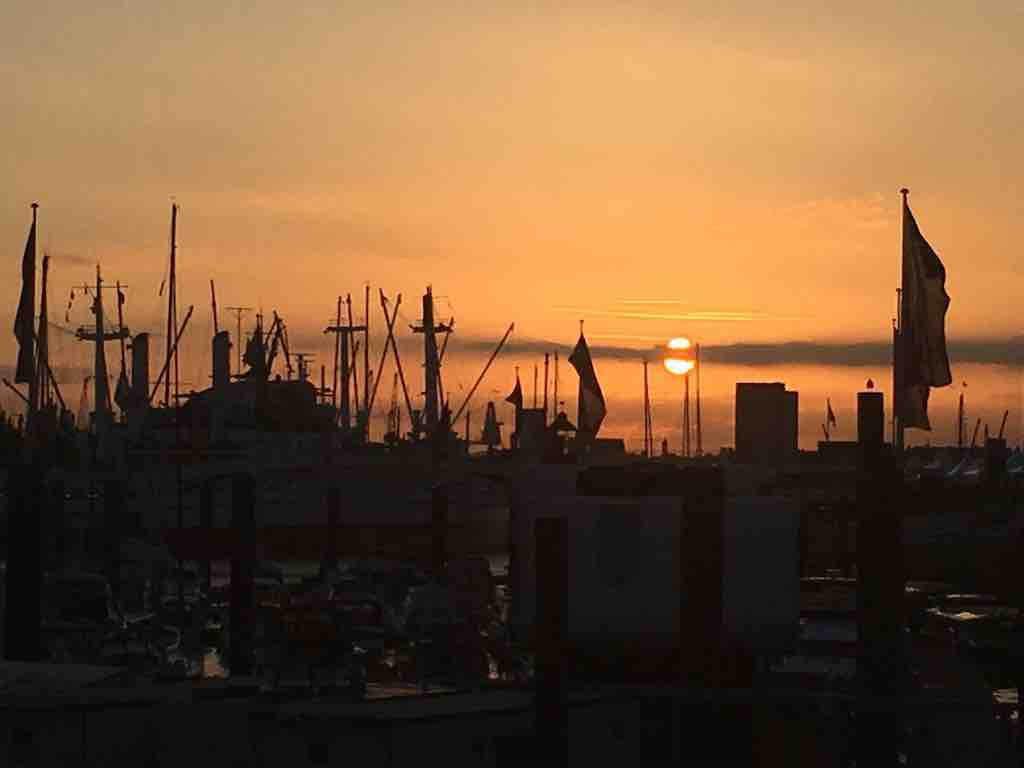 Gut gegen Nordwind am Hamburger Hafen